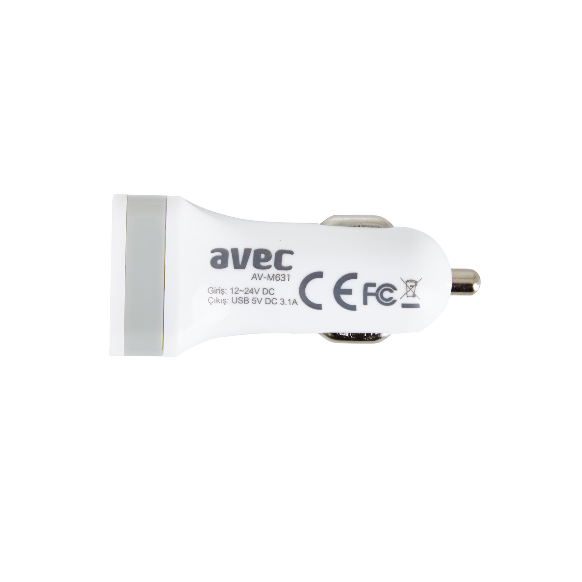 AVEC AV-M631 12V-USB ARAÇ ŞARJ CİHAZI