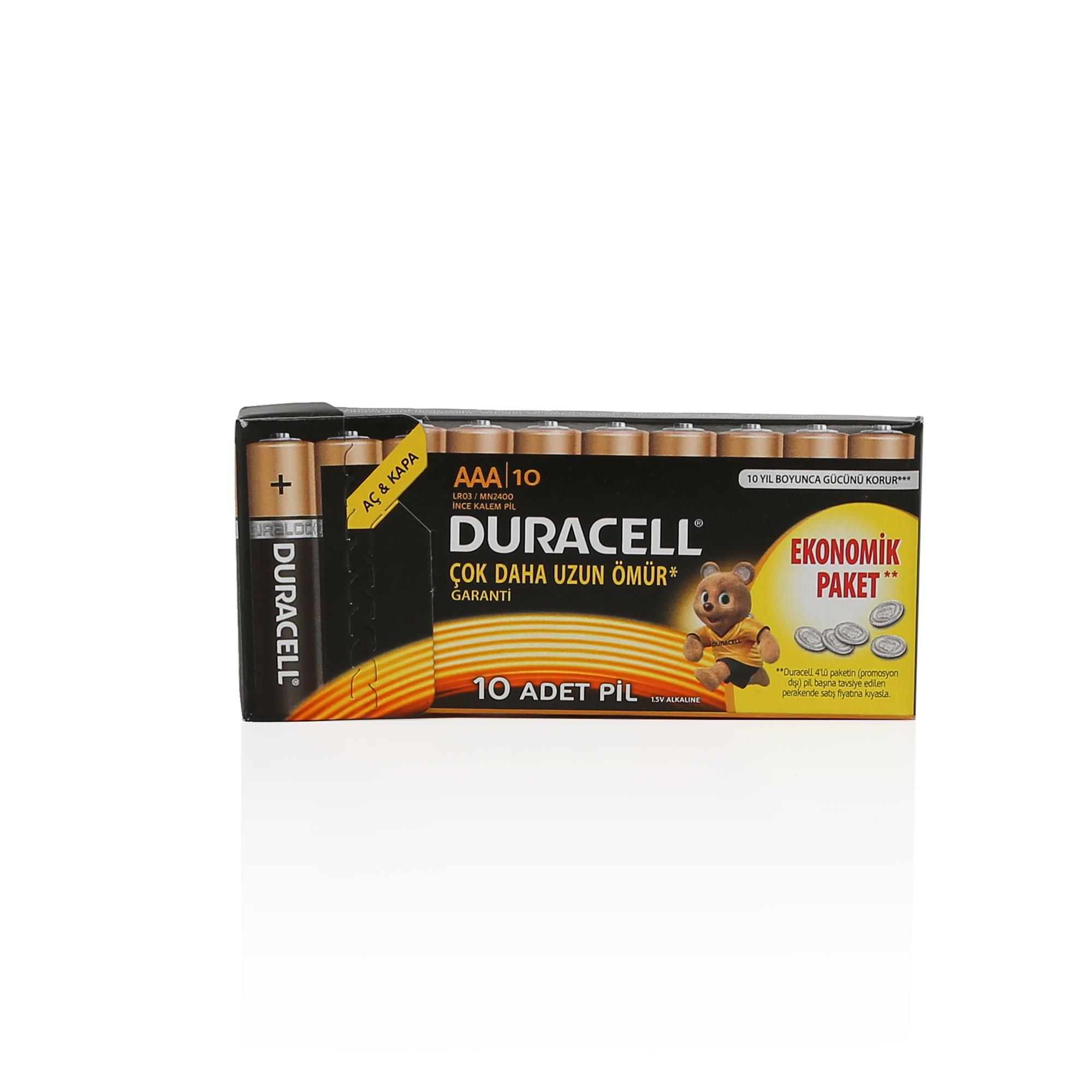 DURACELL İNCE PİL 10LU