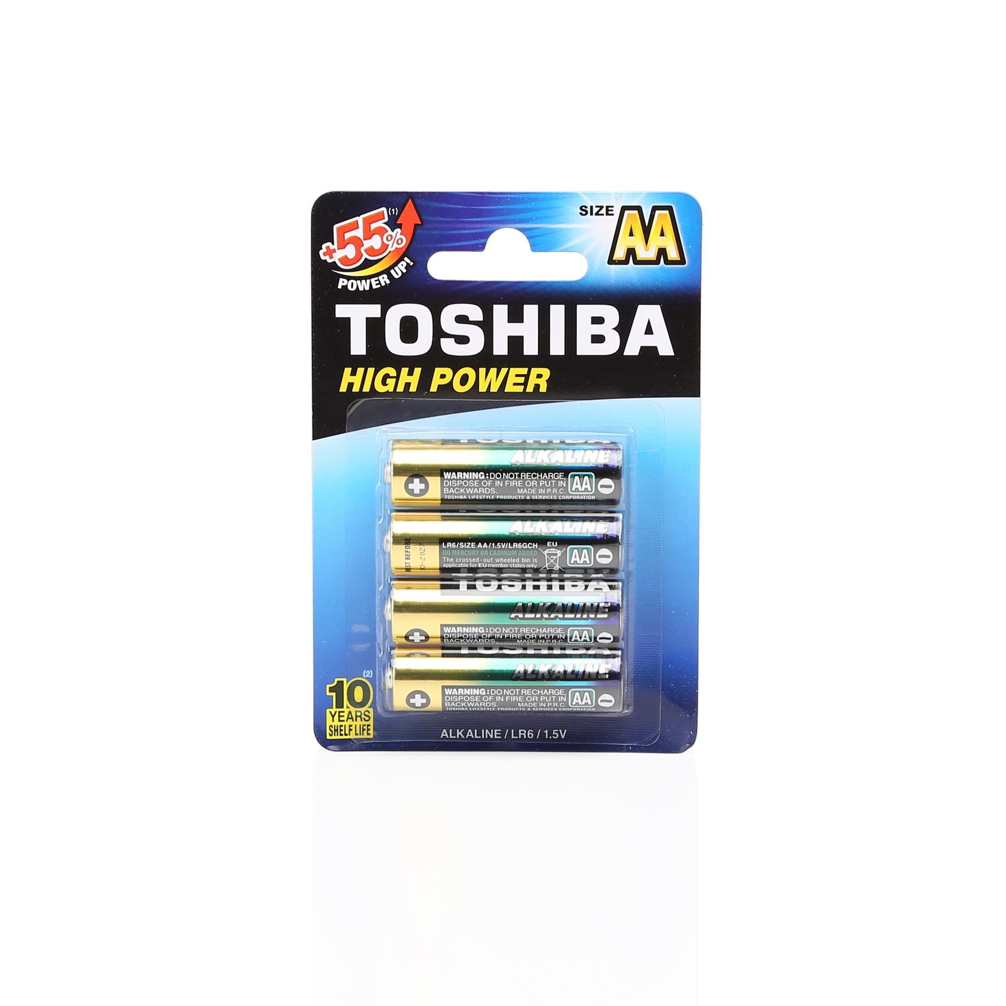 TOSHIBA LR6 HIGH POWER ALK.KALEM PİL 4LÜ
