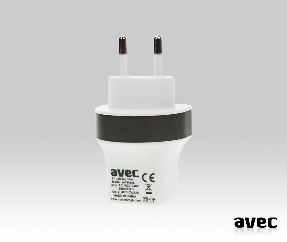 AVEC AV-M525 2.1A USB ŞARJ CİHAZI