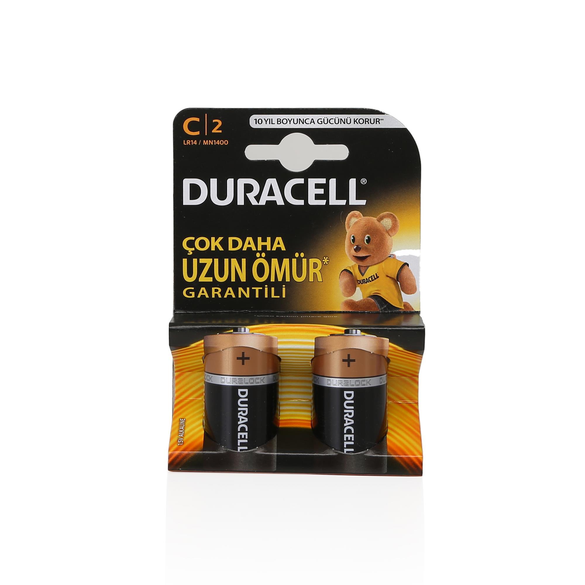 DURACELL C ORTA PİL 2\'Lİ
