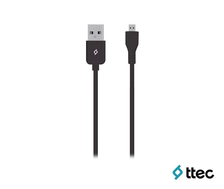 T.TEC 2DK7510S MICRO USB DATA KABLOSU SİYAH