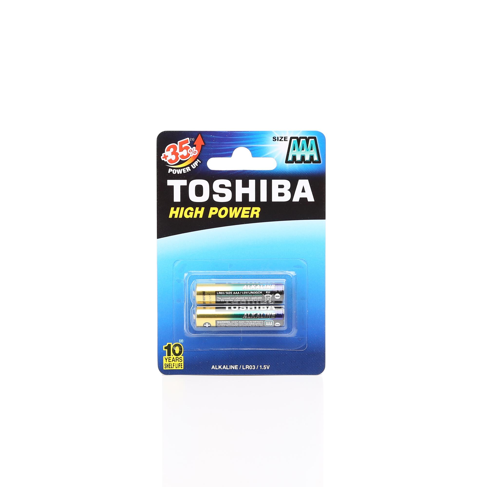 TOSHIBA LR03 HIGH POWER ALK.İNCE PİL 2Lİ